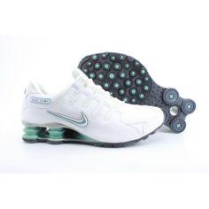 Nike Shox NZ White Grey Men Shoes $69.59