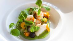 With bright orange flower petals and fresh green ingredients, Dewey Seasons Resort Costa Rica's Di Mare restaurant's seafood salad has as much colour as it does flavour. Seafood Salad, Fresh Green, Orange Flowers, Flower Petals, Tasty Dishes, Restaurant Bar, Costa Rica, Salad Recipes, Tree Camping