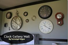 Clock Gallery Wall By Turnstyle Vogue - www.turnstylevogue.com