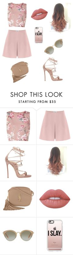 """I SLAY."" by a7lamalmaz ❤ liked on Polyvore featuring Miss Selfridge, Valentino, Dsquared2, Yves Saint Laurent, Lime Crime, Miu Miu, Casetify, men's fashion and menswear"