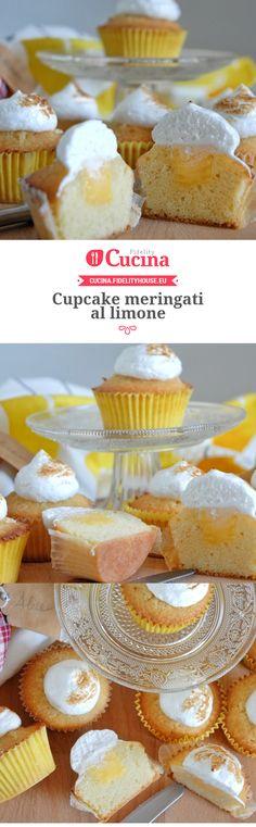 Cupcake meringati al limone della nostra utente Alice. Unisciti alla nostra Community ed invia le tue ricette!