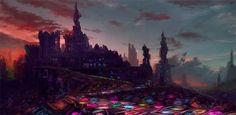 Castle New Arcadia Concept by W-E-Z.deviantart.com on @DeviantArt
