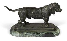 Antoine-Louis Barye, Standing Basset hound