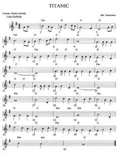 Partitura del Titanic Más Trumpet Sheet Music, Saxophone Sheet Music, Violin Music, Piano Songs, Cello, Easy Sheet Music, Easy Piano Sheet Music, Music Chords, Recorder Music