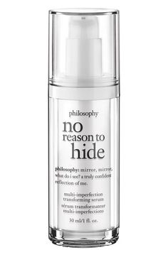 philosophy 'no reason to hide' multi-imperfection transforming serum available at #Nordstrom