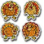 Dazzle Stickers Turkeys 60pk Acid And Lignin Free