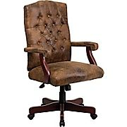 Buy Flash Furniture Leather Executive Office Chair, Fixed Arms, Brown at Staples' low price, or read customer reviews to learn more.