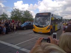 This was when I got off the bus at my pole '105'  where I was to later on, carry the Olympic Flame.