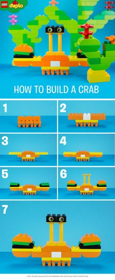 Look at the incredibly tall eyes on this cute LEGO DUPLO crab. Your little one will love learning about animals while you build this together.