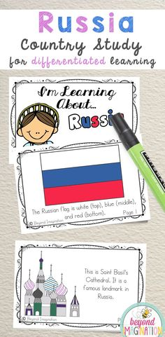 Russia Fun Fact country study booklet is perfect to use for an around the world unit, an international day, an international festival, a social studies unit, a cultural school project, a geography project, a cultural day, a cultural fair, a field day, or a multicultural day. #Russia #country #booklet #study #tpt #gradeone #gradetwo #gradethree #gradefour #kindergarten