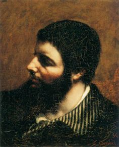 Self-Portrait with Striped Collar by Gustave Courbet