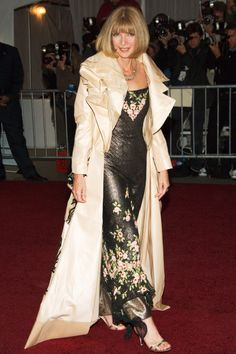 Anna Wintour at the AngloMania Costume Institute Gala in New York City.