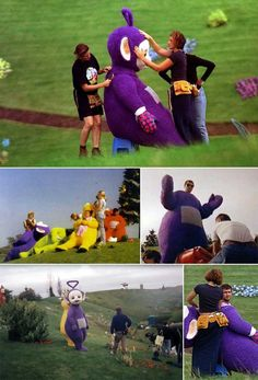 Behind the scenes of Teletubbies | Rare, weird & awesome celebrity photos