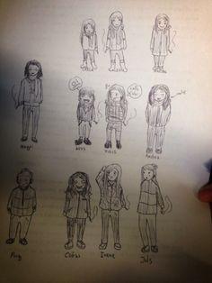 Les desins. Je me rappelle toujours l'éternelles heures de dessin et dessins tout accumulés, avec mes amis.             Eduvigis Sardà Sánchez