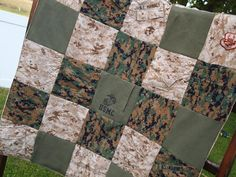 Made to order: This is a listing for a custom, handmade memory quilt made out of your own military uniforms. You will need to provide 1 set of each