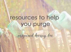 Inspired Honey Bee: home: start cleaning with these resources organize clean