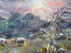 Landscape with sheep, Wales | DegreeArt.com The Original Online Art Gallery