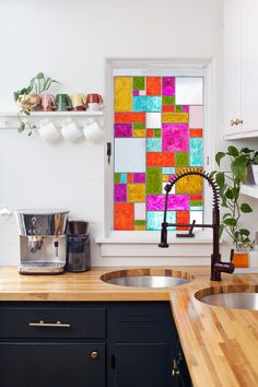 Faux Stain Glass Window Art | 19 Ingenious Ways To Decorate Your Small Space