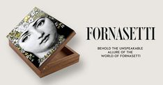 Wooden Box Flora by Fornasetti.