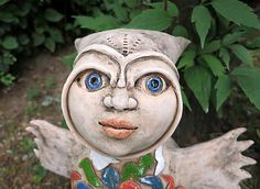 e-keramika / malá sovia víla Garden Sculpture, Sculptures, Outdoor Decor, Artwork, Work Of Art, Auguste Rodin Artwork, Artworks, Illustrators, Sculpture