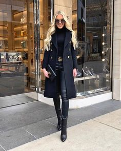 All black outfit - Outfits ta Casual Winter Outfits, Winter Fashion Outfits, Classy Outfits, Stylish Outfits, Fall Outfits, Autumn Fashion, Beautiful Outfits, Outfit Winter, Trendy Black Outfits