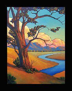 Art Painting Impressionist Plein Air styl California Listed Hawkins Oil Original 18x24