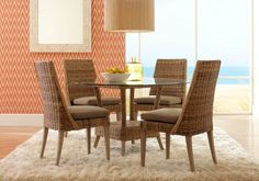 Cindy Crawford Home Key Largo Gray 5 Pc Round Dining Set. $677.00.  Find affordable Dining Room Sets for your home that will complement the rest of your furniture. #iSofa #roomstogo