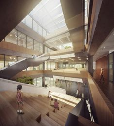 Project for Rastar R&D Headquarters in the fast growing Chinese city of Shantou comes our way from Nomad Office Architects who completed the solution in collaboration with Greendwell. China Architecture, Modern Buildings, Atrium, Windows, Architects, Design, Home Decor, Behance, Museums