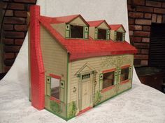 Vintage Merit Toy Tin Doll House.