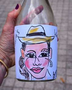 I've been immortalized on a discarded wine bottle! But my hair isn't frizzy enough... #humidity @slwinefood #slwinefood #sugarland #houston #vip #foodie #wine #foodandwinefestival #houstonfood #houstonrestaurants #blogger #houstonblogger #wineo #festival #htx #winetasting #bistrobrunch #brunch #sundayfunday @visitsugarland #caricature