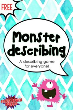 A fun and free game to describe, compare, and contrast!