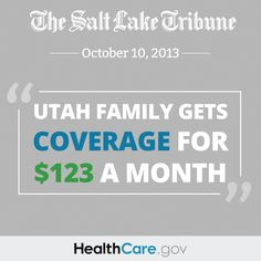 """Health exchange: Utah family gets coverage for $123 a month"" from The Salt Lake Tribune."