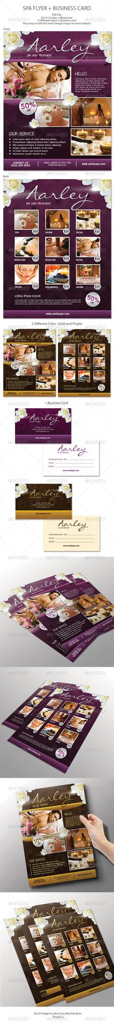 Spa Flyer + Business Card - Commerce Flyers