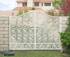 Ornate Driveway/Double wrought iron gate Model: Debussy DG0365 Wrought Iron Driveway Gates, Wrought Iron Stairs, Double Gate, Garage Doors, Outdoor Decor, Model, Home Decor, Decoration Home