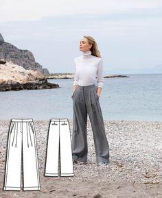 Wide Leg Trousers #118 http://www.burdastyle.com/pattern_store/patterns/wide-leg-trousers-092015?utm_source=burdastyle.com&utm_medium=referral&utm_campaign=bs-meh-bl-150817-ClassicSeasideCollection118
