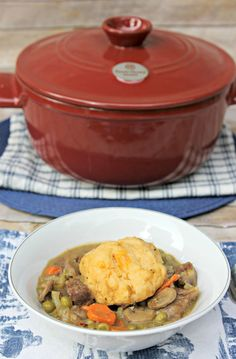 Beef Stew With Cheese Dumplings Recipe + Giveaway!