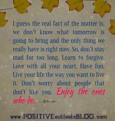 enjoy the ones who do
