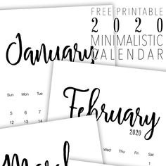 Free Printable 2020 Minimalist Calendar - The Cottage Market Free Printable 2020 Minimalist Calendar – The Cottage Market Printable Calendar 2020, Print Calendar, Monthly Calender, Calendar Wallpaper, Photo Calendar, Paper Trail, Party Banners, Recipe Cards, Getting Organized