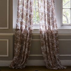 John Robshaw Textiles - Ginger Clay - Printed Windows Sheers - Window Sheers