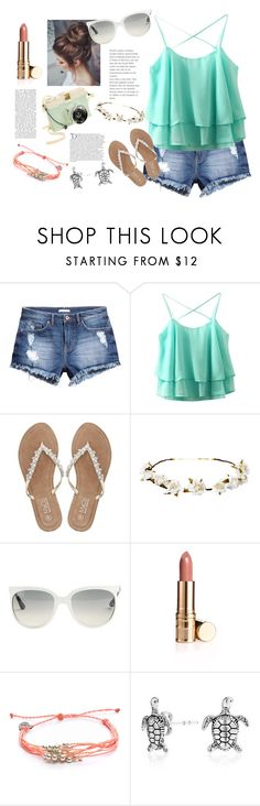 """Casual Summer"" by cqb824 ❤ liked on Polyvore featuring H&M, M&Co, Cult Gaia, Ray-Ban, Pura Vida, Balmain and Bling Jewelry"