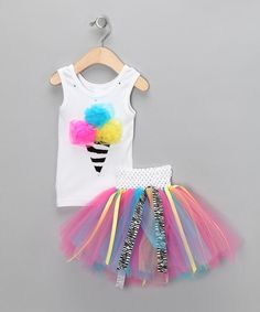 Zebra Ice Cream Tank & Tutu from Brookie Jos on #zulily!