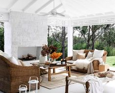Whether you have a petite patio or a generously-sized terrace, you're sure to find inspiration in these well-decorated outdoor areas that are covered for whatever season. Outdoor Dining Furniture, Outdoor Dining Set, Indoor Outdoor Rugs, Outdoor Areas, Outdoor Lounge, Outdoor Decor, Kmart Home, Sofa Home, Outdoor Settings