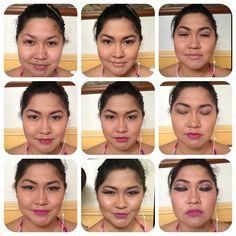 When bored, take out make up and play!