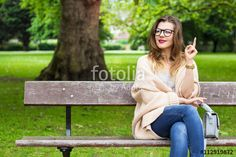 Young businesswoman having a good idea