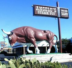 Angelo's Steak Pit (Panama City, FL) - Because on a family beach vacation, you need to include a giant statue of something mundane in the trip.