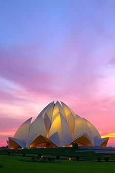 Lotus Temple - New Deli, Índia