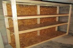 open built in wooden storage shelving - Google Search