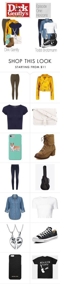 """""""Dirk Gently's Holistic Detective Agency - Episode 1"""" by darlingdesigner ❤ liked on Polyvore featuring Miss Selfridge, Boohoo, WearAll, Maiyet, Corgi, 7 For All Mankind, Yves Saint Laurent, Rosetta Getty, Bling Jewelry and Converse"""
