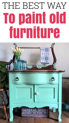 Wash Stand goes from ready for the dump to Farmhouse chic! How to paint your old furniture Painted Furniture For Sale, Painting Old Furniture, Furniture Painting Techniques, Colorful Furniture, Painting Tips, Diy Furniture Projects, Furniture Makeover, Craft Projects, Refinished Furniture