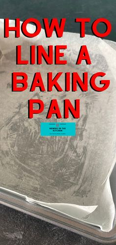 How to Line A Square Baking Pan With Parchment Paper. Easy instructions for how to quickly line a pan with parchment paper. Easy to remove baked cakes avoiding sticking to the pan